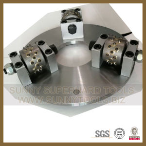 240mm 3 Rollers Diamond Bush Hammer Plate for Klindex pictures & photos