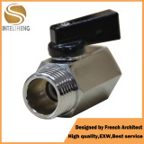 Mini Brass Ball Valve Male Thread with Black Handle pictures & photos