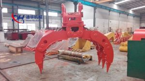 15-40t Excavator Equipped Hydraulic Grapple for Wood Grabing pictures & photos
