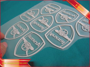 3D Embossed Iron on Label Clothing Heat Transfer Label pictures & photos