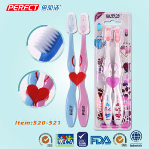 Perfect Handle Printing Couple Toothbrush pictures & photos