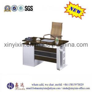 Melamine Office Furniture Black Color Manager Office Desk (MT-96#) pictures & photos