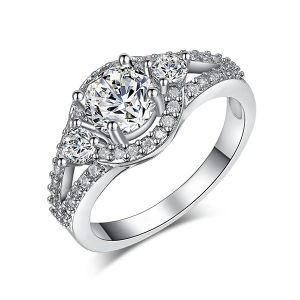 Fashion 925 Sterling Silver Jewelry Engagement Rings pictures & photos