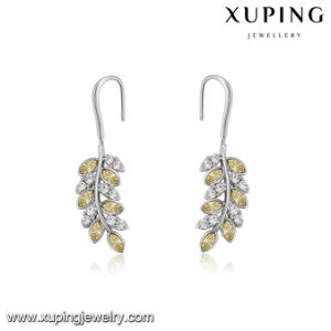 94334 Newest Arrival Graceful Fashion Leaf Design Earring Crystals From Swarovski Jewelry pictures & photos