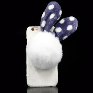 Hot Sell Lovely Pompon Rabbit Phone Case for Samsung & iPhone