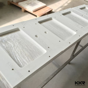 Custom Made Polished Solid Surface Kitchen Island Countertop pictures & photos