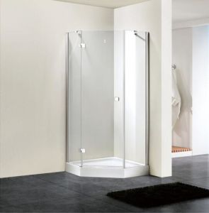 Shower Enclosure 8mm Glass Diamond Hinge Door Shower Door (BN-HDD80) pictures & photos