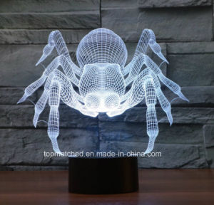 Illusion Table Lamp USB LED Spider Touch Switch 3D LED Night Light Battery Operated Baby Night Light for Gift pictures & photos