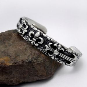 Gothic Cuff Men Bracelets Titanium Steel Silver Color Fashion Jewelry pictures & photos