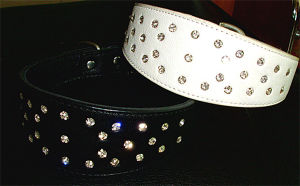 Luxury White and Black Crystal Pet Collar pictures & photos