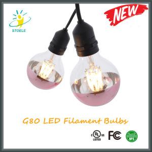 G25/G80 LED Bulb Half Rose-Gold Plating LED Lighting pictures & photos