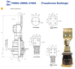 Transformer Accessories Bushing Insulator 1kv/3kv 1000A---3150A pictures & photos