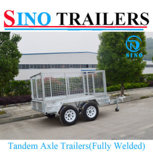 10*5 Tandem Mesh Cage Cargo Box Trailer pictures & photos