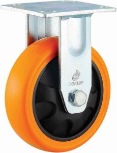 4/5/6/8 Inch Heavy Duty Orange PU Castor Wheel Industrial PU Caster with Brake pictures & photos