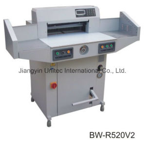 Most Popular Hydraulic and Programmable Paper Cutting Guillotine Machine Bw-R520V2 pictures & photos