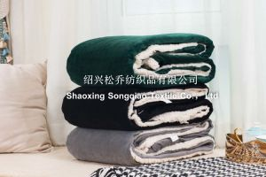 Sherpa Fleece Blanket / Mink with Shu Velveteen Baby Blanket / Promo Throw-Grey pictures & photos