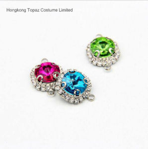 Free Samples Rhinestone Connector Rhinestone Silver Plated Jewelry Crystal Connector (TC-Rivoli 12mm) pictures & photos