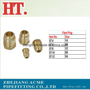 5/16inch Brass Flare Plug Fitting pictures & photos