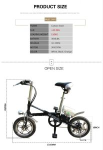 16 Inch16 Inch Motor Bike/Electric Mountain Bike pictures & photos