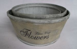 The Metal Color Printing Quality and Practical Flowerpot pictures & photos