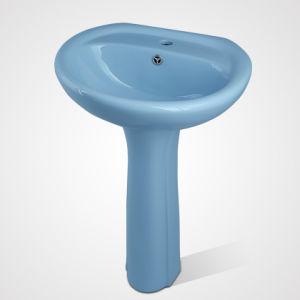 China Supplier Bathroom Vanity, Floor Stand Wash Ceramic Basin pictures & photos