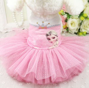 Design Printing Layers Pet Dress Frozen Dog Tutu Skirts pictures & photos