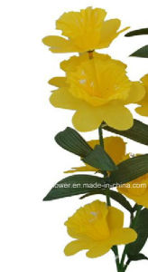 Artificial/Plastic/Silk Flower Single Stem of Daffodil (XF30039) pictures & photos
