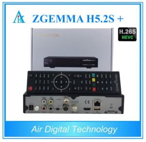 Italy/Spain/German Hot Sale Multistream Decoder Zgemma H5.2s Plus Linux Kernel DVB-S2+S2X/T2/C Triple Tuners pictures & photos