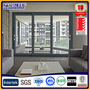 Aluminium Double Glass Sliding Window with Australia Certificate pictures & photos