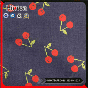 Accept OEM Service 100 Cotton Print Denim Fabric pictures & photos