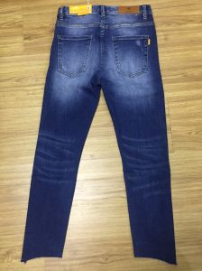 Ladies Fashion Denim Jeans (HY5147-29GDT) pictures & photos