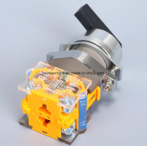 Longer Handle Rotary Push Button Switch with Certification pictures & photos