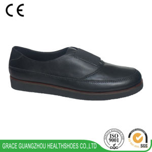 Health Casual Shoes Elder Comfort Leather Shoes pictures & photos