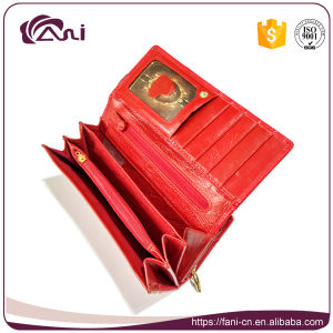 Metal Clutch Frames Purse, PU Leather Wallet Embossed Women Wallet pictures & photos