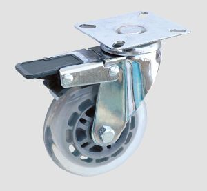Industrial Caster Flat Transparent Caster with Brake pictures & photos