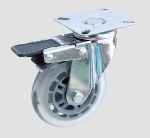 Industrial Caster Flat Transparent Caster with Brake