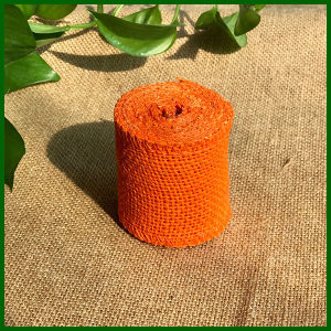 Colored Jute Burlap Cloth Roll (Orange) pictures & photos