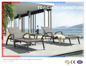 Outdoor Rattan Beach Chairs/ Sunbed/ Lounger/Daybed (TGLU-27) pictures & photos