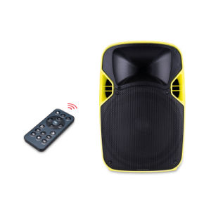 Cheap 12 Inch Portable Active Loud LED Projection Speaker pictures & photos