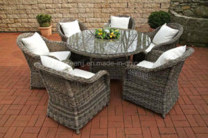 5mm Round Dining Rattan Set pictures & photos