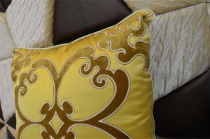 Embroidery Decorative Cushion Fashion Velvet Pillow (EDM0328) pictures & photos