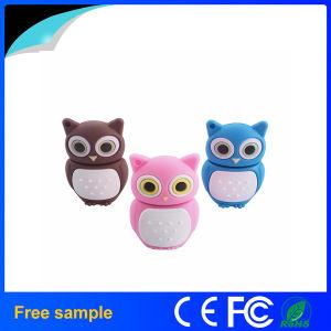 Custom Logo Soft PVC Bird Pen Drive USB 2.0 Owl Shape Flash Drive