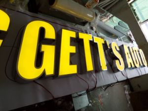 Waterproof Stainless Steel LED Facelit Channel Letters for Billboard Signage pictures & photos