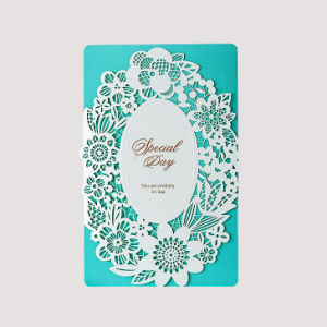 Customized Design Paper Hollow Wedding Invitation Card pictures & photos