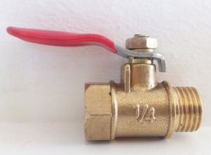 2-Clip Type Male/Female Thread Brass Ball Valve pictures & photos