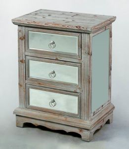 Mirror Furniture Bedroom Vanity Mirrored Multi Drawers Bedside Chest pictures & photos