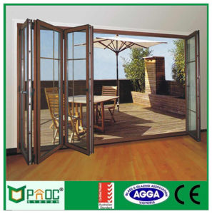Itylian Ronchetti System Profile Bi-Folding Doors with Toughed Glass Pnoc010 pictures & photos