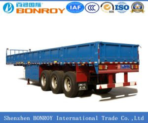 3 Axle Fence Semi-Trailer with Side Wall pictures & photos