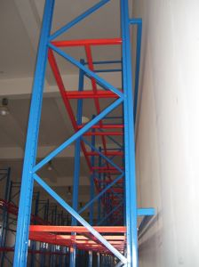 Blue and Orange Pallet Racking System pictures & photos