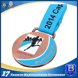 Copper Plating Kicking Boxing Award Promotion Medal with Customized 3D Logo Engraving pictures & photos